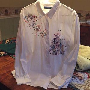 Beautiful crisp Christmas Shirt. Gorgeous size XL